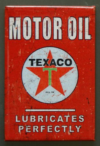 Texaco Motor Oil FRIDGE MAGNET Gasoline Gas Service Station Garage Standard P6