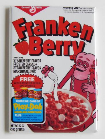 Franken Berry General Mills Cereal Frankenstein FRIDGE MAGNET Monsters E1