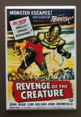 Revenge Of The Creature Refrigerator Fridge Magnet Movie Poster Sci Fi Swamp