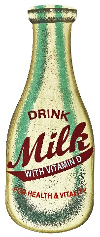 Drink Milk Tin Sign Milk Jug Jar Americana Milkman Vintage Style Kitchen Fridge
