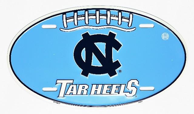 North Carolina Tar Heels Aluminum Football License Sign Garage Man Cave NCAA F5