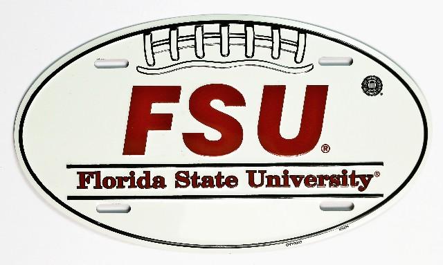 Florida State Seminoles Aluminum Football License Sign Man Cave NCAA FSU F10