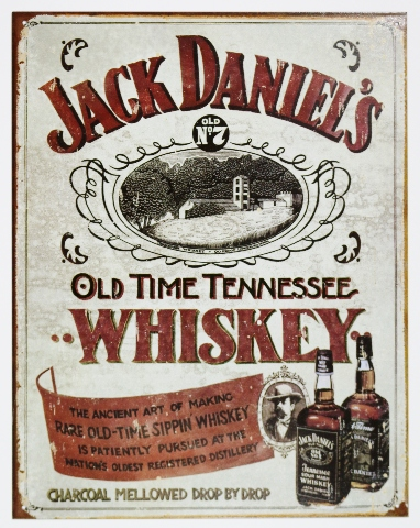 Jack Daniels Distiller Tin Sign Man Cave Bar Beer Alcohol Tennessee Whiskey