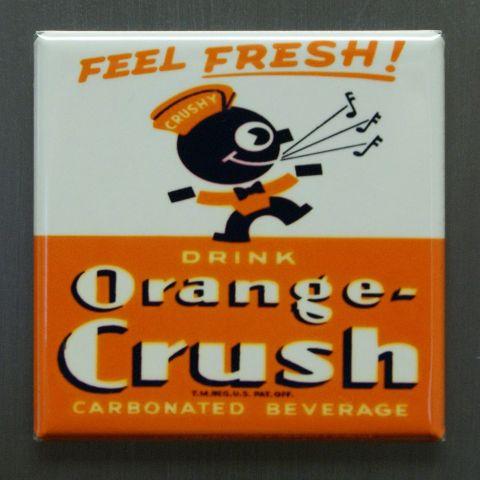 Feel Fresh Drink Orange Crush Refrigerator Fridge Magnet Soda Cola Pop Coke J4