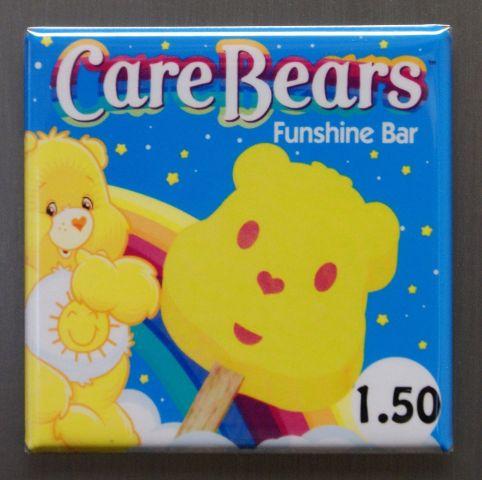 Care Bears Funshine Bar Refrigerator Fridge Magnet Popsicle 1980's Cartoon K10