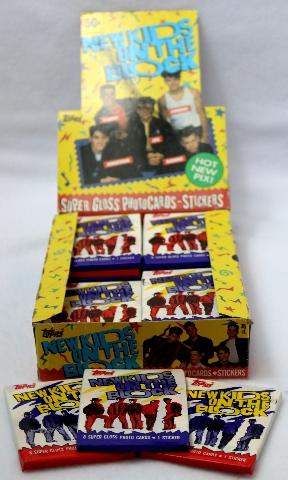 3 Packs of Vintage Topps New Kids On The Block Trading Cards NKOTB 1989