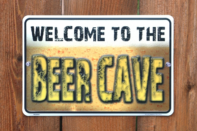 Welcome To The Beer Cave Tin Metal Sign Alcohol Garage Mancave Bar Game Room