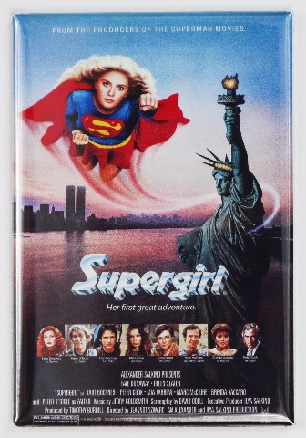 Supergirl Movie Poster FRIDGE MAGNET refrigerator Super hero advertisement S30