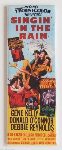 MGMs Singin' In The Rain FRIDGE MAGNET Classic 50's Movie Marquee Gene Kelly LA5