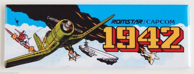 Romstar Capcom 1942 FRIDGE MAGNET Arcade Video Game Marquee Nintendo LA10
