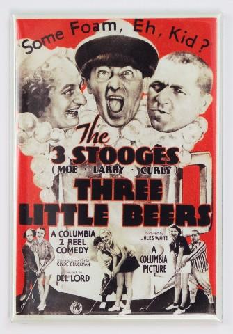 3 stooges Three little beers movie poster refrigerator FRIDGE MAGNET