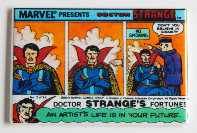 Dr Strange Marvel Presents FRIDGE MAGNET Doctor Stranges fortune No smoking C9