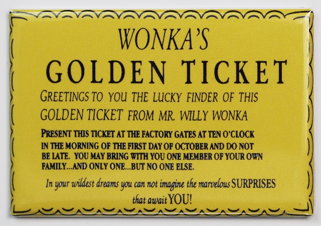 Golden Ticket Template From Charlie And The Chocolate Factory