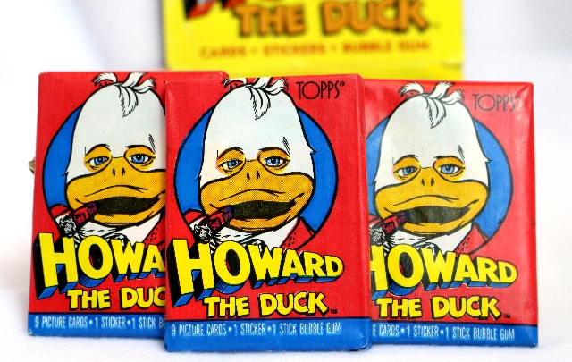 3 Packs Vintage Topps Howard The Duck Wax Pack Trading Cards Stickers 1986 Movie