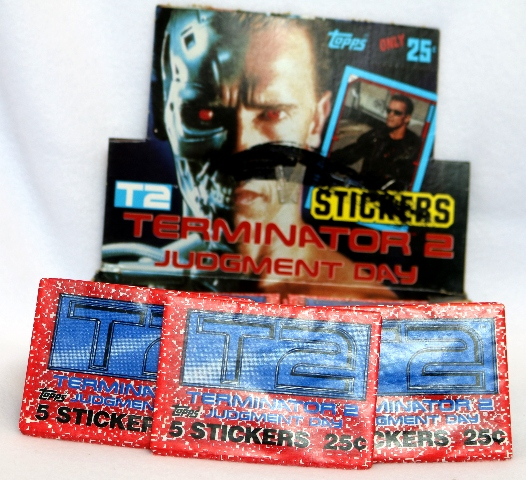 3 Packs of Vintage Topps T2 Terminator 2 Wax Pack Trading Cards Schwarzenegger