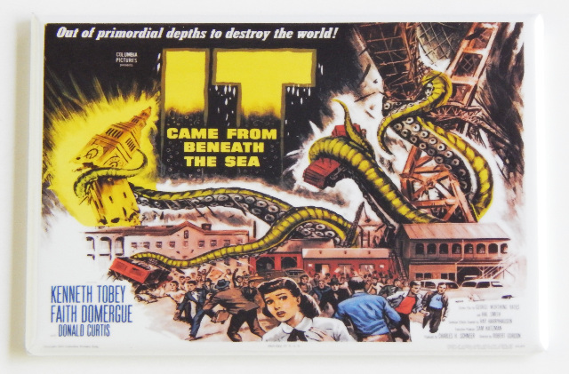 It Came From Beneath the Sea movie poster FRIDGE MAGNET monster sci fi film A41