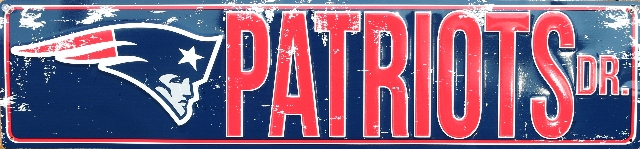 New England Patriots Drive Tin Metal Street Sign NFL Football Team Sports Decor E92