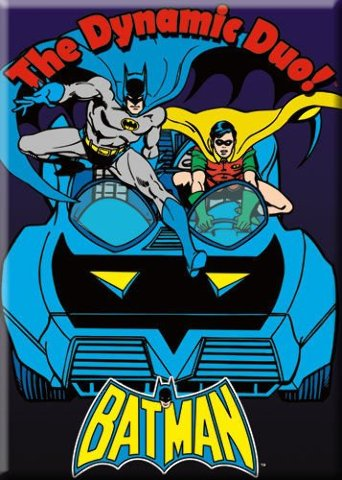 Batman The Dynamic Duo FRIDGE MAGNET DC Comics Comic Books Robin Batmobile G16