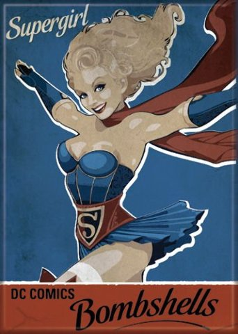 DC Comics Bombshells Supergirl FRIDGE MAGNET Justice League of Friends F26