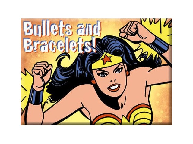 Bullets And Bracelets Wonder Woman FRIDGE MAGNET DC Comics Justice League F24