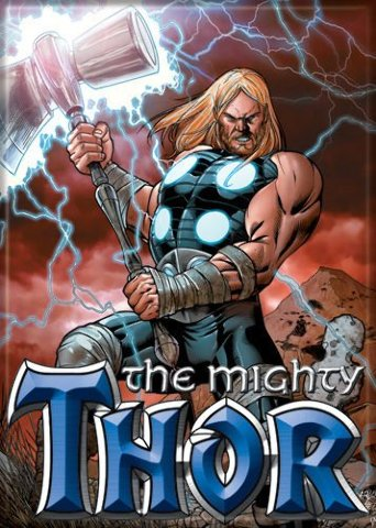 Marvel Comics The Mighty Thor Glowing Hammer FRIDGE MAGNET The Avengers S22