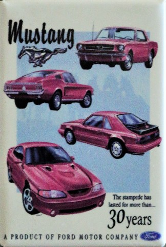 Ford Mustang 30 Years FRIDGE MAGNET 5.0 5L Fastback Shelby Cobra DESM H8