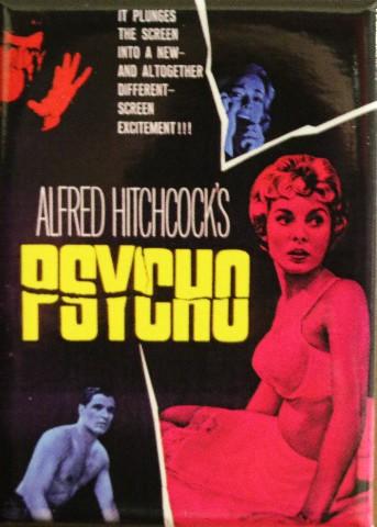 Alfred Hitchcocks Psycho MAGNET Classic Vintage Style Movie Horror B Film ATAM