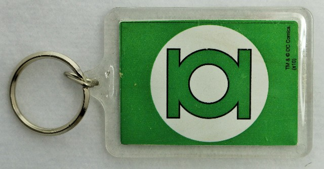 The Green Lantern Logo Double Sided Key Chain Dc Comics Justice