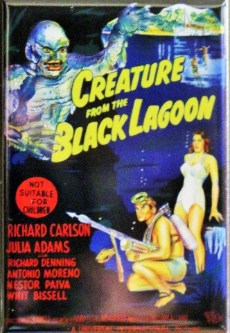 Creature from the Black Lagoon Movie Poster FRIDGE MAGNET Universal Monsters Mosnter Movie