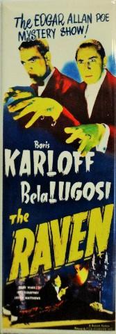Edgar Allan Poe Mystery Show The Raven Movie Poster FRIDGE MAGNET Karloff Lugosi