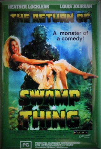 Return of Swamp Thing Movie Poster FRIDGE MAGNET Cult Classic Monster DC Comics Comic Book 1980s