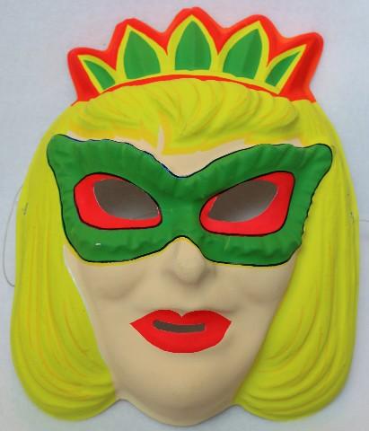 Vintage Queen Masque Halloween Mask Crown Tiara Domino Blonde Y102