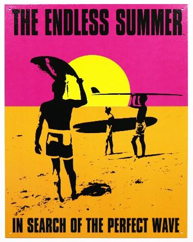 Endless Summer Tin Metal Sign Classic Movie Poster Surfing Beach Tiki Bar Ocean F56