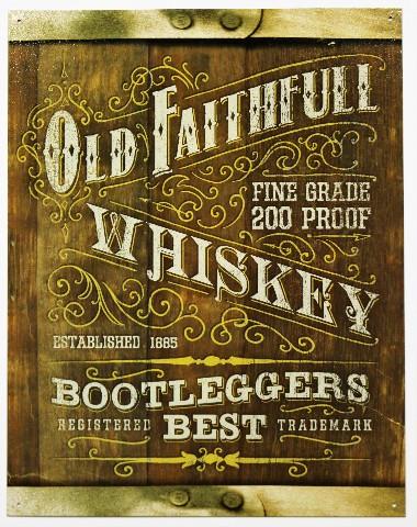 Old Faithful Whiskey Bootleggers Best Tin Metal Sign Moonshine Alcohol Liquor Bar B41