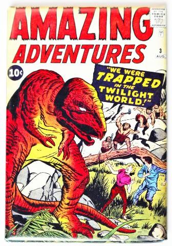 Amazing Adventures Comic Book FRIDGE MAGNET Sci Fi Issue 3 Dinosaur T Rex