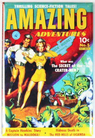 Amazing Adventures Comic Book FRIDGE MAGNET Sci Fi Issue 5 Space Aliens
