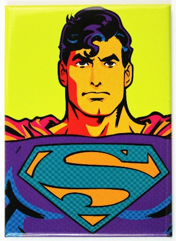 Superman FRIDGE MAGNET DC Comics Comic Book Warhol Art Neon B16