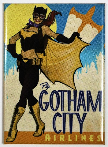 Batgirl Bombshell Gotham City Airlines FRIDGE MAGNET Comic Book DC Comics Batman Villain