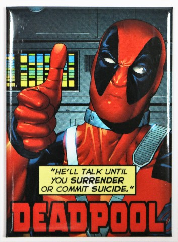 Deadpool FRIDGE MAGNET Comic Book Marvel Comics Humor Funny Dead Pool B12