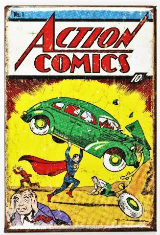 Superman Issue 1 FRIDGE MAGNET Vintage Style Comic Book DC Comics Orgins M7