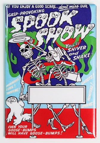 Spook Show FRIDGE MAGNET Vintage Style Movie Show Poster Ghost Skeletons
