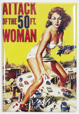 Attack of the 50 ft Woman Movie Poster FRIDGE MAGNET Sci Fi Vintage Style