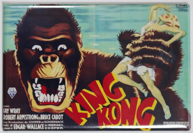 King Kong 1933 Movie Poster FRIDGE MAGNET Monster Vintage Style