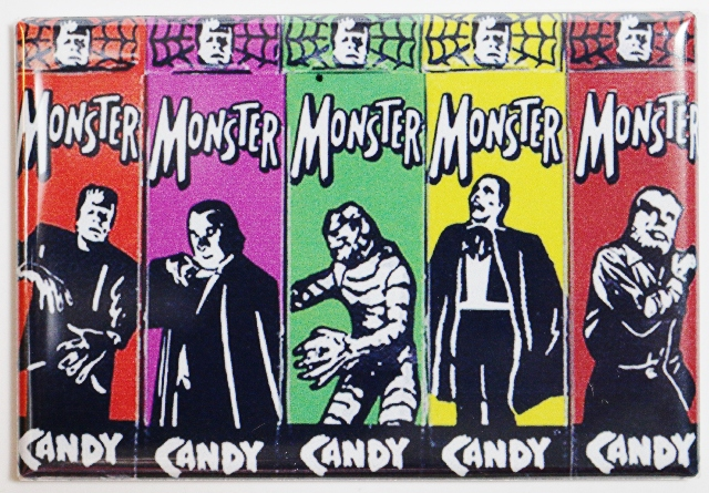 Universal Monster Candy FRIDGE MAGNET Vintage Style AD