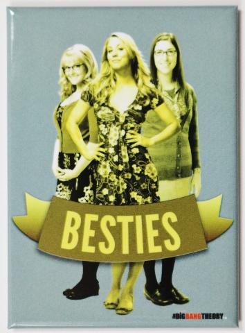 Big Bang Theory Besties FRIDGE MAGNET Sheldon Girls BFF Amy Penny Bernadette i22