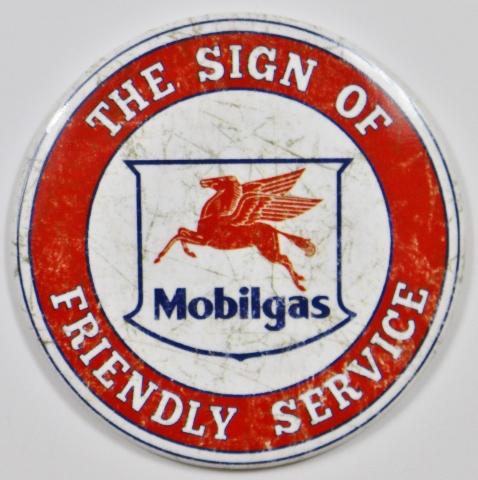 Mobilgas Socony Vacuum Pegasus Freindly Service FRIDGE MAGNET Gas Oil Mechanic Garage Exxon