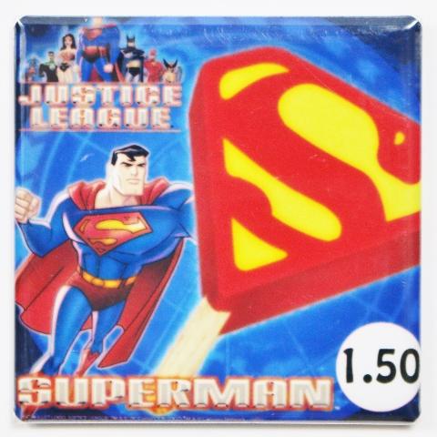 Superman Justice League Ice Cream Popsicle bar Fridge Magnet DC Comics