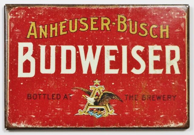 Anheuser Busch Budweiser Beer FRIDGE MAGNET Brewery Label AD Bar Alcohol N1