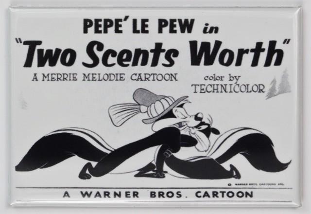 Looney Tunes Pepe Le Pew FRIDGE MAGNET Warner Bros Movie Poster