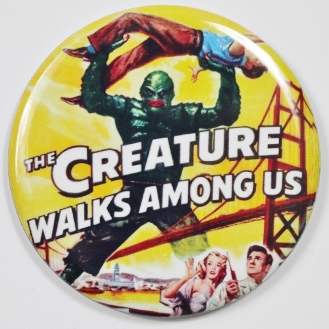 The Creature Walks Among Us Movie Poster FRIDGE MAGNET Black Lagoon Monster Film